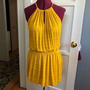 Veronica M Mustard yellow drop waist dress